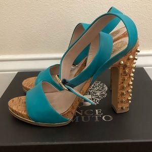 Vince Camuto Aquamarine Studded Sandals